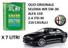 7 LT OLIO MOTORE ORIGINALE SELENIA WR 5W30 ALFA ROMEO 159 2.4 JTDM DIESEL 210CV