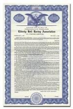 Liberty Bell Racing Association Bond Certificate