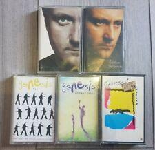 Genesis Phil Collins Bundle of 5 Cassette Tapes