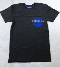 Samsung Mobile Phone Brand LOGO Dark Grey & Blue Pocket Size Mens S ~ FREE SHIP