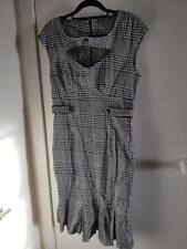 Voodoo Vixen Houndstooth Wiggle Fishtail Dress, size XL (UK 16) Rockabilly