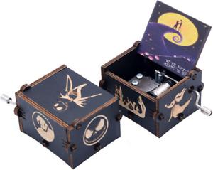 Kdjstore Mini Music Box The Nightmare Before Christmas Wooden Hand Crank Musical