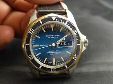 Very Rare Vintage  600FT Diving Sicura by Breitling Automatic 17Jewels , Date.