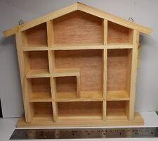 Piccola unità di esposizione Casa a Forma di Scaffale scaffali in pino per miniature da collezione