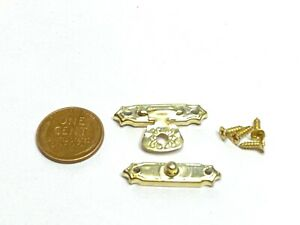 Gold latch Wooden Jewelry Box Hasp Hook With Screws B1