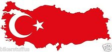 TURKEY TURKISH MAP FLAG BUMPER STICKER HARD HAT STICKER HELMET STICKER