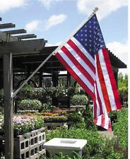 Stainless Steel Flag Pole Kit Garden Yard House Wall Truck Outdoor Holder 6 Ft