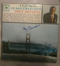 Tony Bennett Legendary Signed Autographed San Francisco ALBUM Record PROOF COA