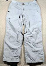 PULSE Snow Ski Snowboarding Pants Gray Sz M with Black Polyester Lining