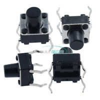 50PCS 6x6x7mm Momentary Tactile Push Button Switch 4 Pin DIP Through Hole