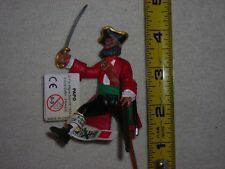 Peg Leg Pirate Captain - Pirate Toy - Action Figures by Papo Figures RED