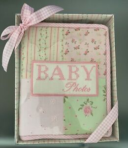 BABY ESSENTIALS GIRL PHOTO ALBUM - FABRIC - READY FOR GIFTING - NEW IN BOX