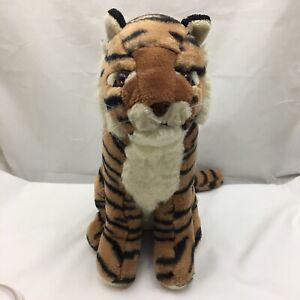 "Bengal Tiger Orange Brown Black White Vintage Ace Novelty Plush 16"" Lovey Toy"