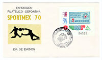 "MEXICO 1970 FIRST DAY COVER ""SPORTMEX 1970 PHILATELIC EXPOSITION"" C374 [04]"
