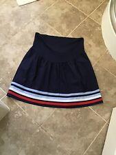Jo Jo Madman Bebe Size 8 Navy Striped Hem Maternity Skirt Nwt £32