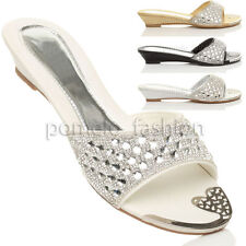 Evening Wedge Slip On, Mules Synthetic Shoes for Women