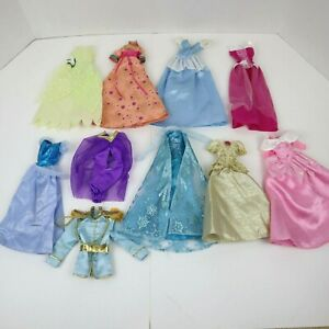 Disney Princess Prince Barbie Doll Clothes Dresses Gowns Lot - 10 Pieces
