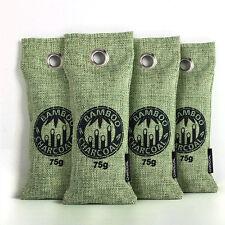 4Pcs Air Purifying Bag Bamboo Charcoal Bag Air Freshener Odor Deodorizer 75g