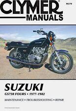 CLYMER MANUAL SUZUKI GS750 1977-79, GS750E 1979-81, GS750 L 1978-82, GS750T 1982