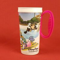 "Vintage 6"" Disney Parks White Mug Cup Mickey Minnie Goofy Donald Daisy Pluto"