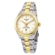 Tissot PR 100 Quartz COSC Lady White Dial Two-tone Ladies Watch T1012512203100