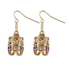 2 Egyptian Egypt Cartouche Hieroglyph Double Snakes Earrings Set Fashion Jewerly