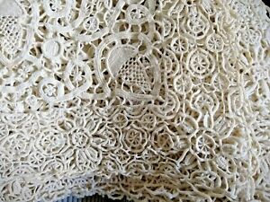 ANTIQUE/VINTAGE SET OF 6 HAND MADE NEEDLE LACE/RETICELLA PLACE MATS