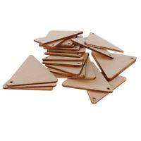 Dreiecksform unfertige Holzstücke mit Loch für