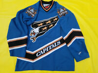 Washington Capitals Jersey Mens L blue screaming eagle retro Pro Player Large