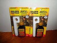 Lot of 2 Wildlife Research Center GOLDEN ESTRUS PREMIUM Scent w/Wicks 1 oz Each