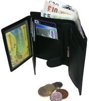 MEN'S Leather Wallet Flip ID Credit Card Cash Coin Holder Black Brown Fast Ship