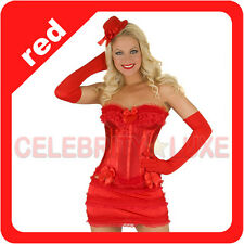 New Burlesque Moulin Rouge Ruffle Corset Fancy Costume Mini Pencil Skirt Bridal