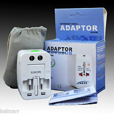 All in One Universal Adapter Socket Travel Wall Charger AC Adaptor UK/US/EU/AU