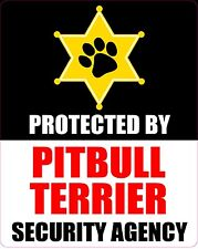 PROTECTED BY PITBULL TERRIER SECURITY AGENCY STICKER
