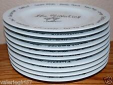 "Pottery Barn 1900's MILLENNIUM 8.25"" Ceramic Salad Dessert Plate - 10 piece Set"