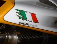Italian Flag exploding tear rip decals stickers Ducati Aprilia guzzi vespa MV Lg