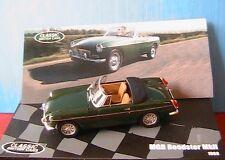 MGB MKII ROADSTER 1968 IXO 1/43 DARK GREEN CABRIOLET SERIE 2 BRITISH SPORT CARS