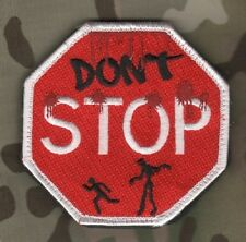 AFG-PAK ISAF TALIZOMBIE© WHACKER WAR TROPHY burdock hook-loop PATCH: STOP Sign