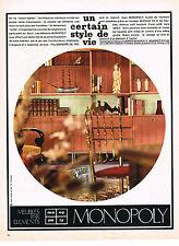 PUBLICITE  1966    MONOPOLY  meubles par éléments