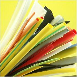 Heatshrink Tubing Coloured 10 Metre Pack Sleeving Kit 1.6 to 12.7mm Heat Shrink