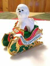The Danbury Mint 2006 ~ Santa's Helper ~ Bichon Frise Christmas Ornament
