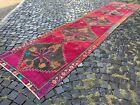 Vintage rug, Hallway rug, Runner rug, Turkish rug, Handmade, Wool | 3,7 x 17,4 f