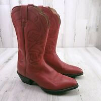 Ariat Heritage 15761 Western Embroidered Red Leather Cowboy Boots Womens US 8 B