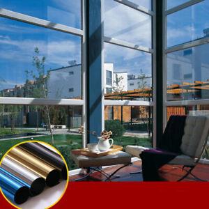 Home Window Sun Blocking Film Mirror Reflective Vinyl Anti UV Window Stickers