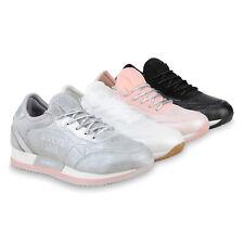 Damen Sportschuhe Glitzer Schnürer Laufschuhe Fitness Sneaker 826251 Schuhe
