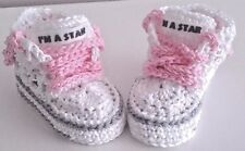 knitted crocheted baby girls shoes ebay