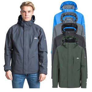 Trespass Mens Waterproof Jacket with Hood Taped Seams XXS -XXXL Edwards II