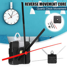 Rétro Inversé Course Silencieux Horloge Mécanisme Mouvement Red Second Long Main