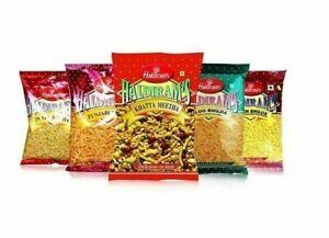 Haldiram's Indian Snacks All Variety Namkeen/Aloo Bhujia/Bhel Puri/Bhujia  200g