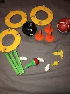 Vintage 1969 Mattel Wizzzer Spinning Tops  Parts Lot A